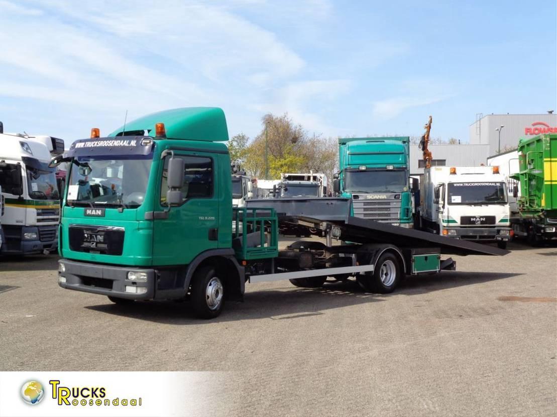 autotransporter vrachtwagen MAN TGL 8 + Euro 5 + Manual + Car transporter + pto 2010