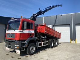 kipper vrachtwagen > 7.5 t MAN TGA 33.390 KIPPER + KRAAN HIAB 195-5