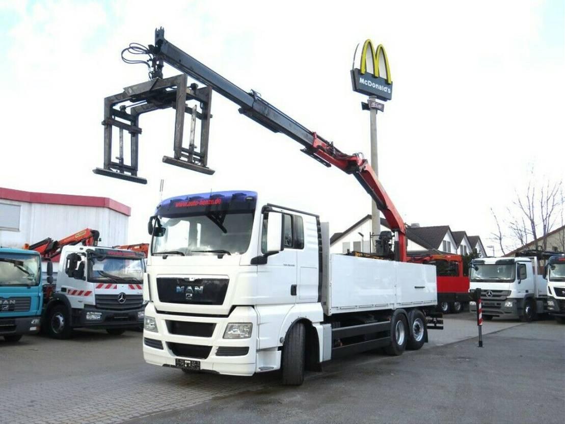 platform vrachtwagen MAN TGX 26 6x2-2 BL Pritsche Heckkran Intarder, 2011