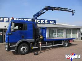 kraanwagen MAN TGM 15 Platte bak met kraan Euro 5 2012