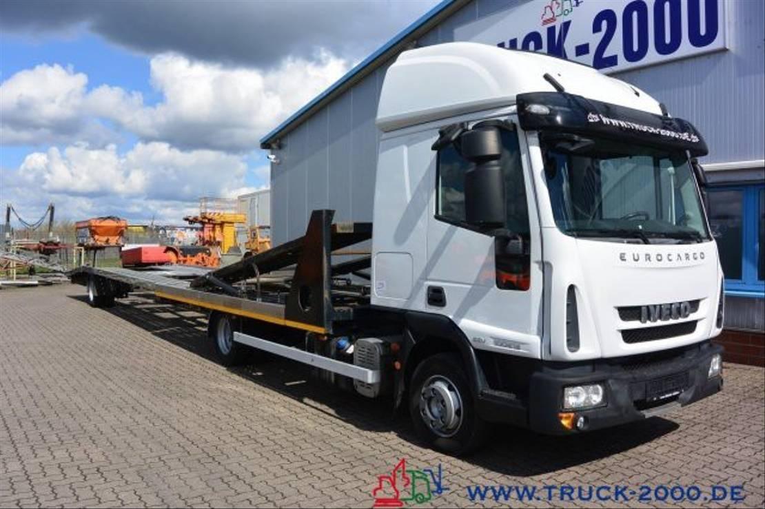 autotransporter vrachtwagen Iveco 100E22 für PKW-Transporter-Wohnmobile 2014