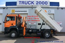 kipper vrachtwagen MAN TGA 18 4x4 Atlas Kran Meiller + Winterdienst 2007