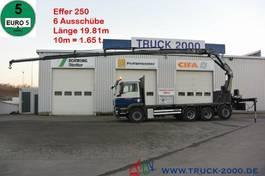 platform vrachtwagen MAN TGS 35 8x4 Effer 250 6S 19.81m / 10m = 1.65t 2010