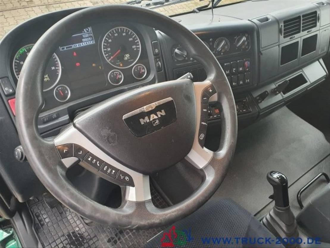 autotransporter vrachtwagen MAN TGM 15 Doppelstock Geschlossen 3 Fahrzeuge 2013