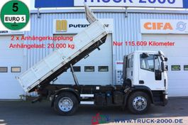 kipper vrachtwagen > 7.5 t Iveco EuroCargo 120 120E25 3-S 3-Sitzer 2x AHK nur 115 tkm 2009