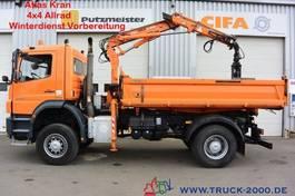 kipper vrachtwagen > 7.5 t Mercedes-Benz Axor 1829 4x4 Atlas Kran + Winterdienst 1.Hand 2009