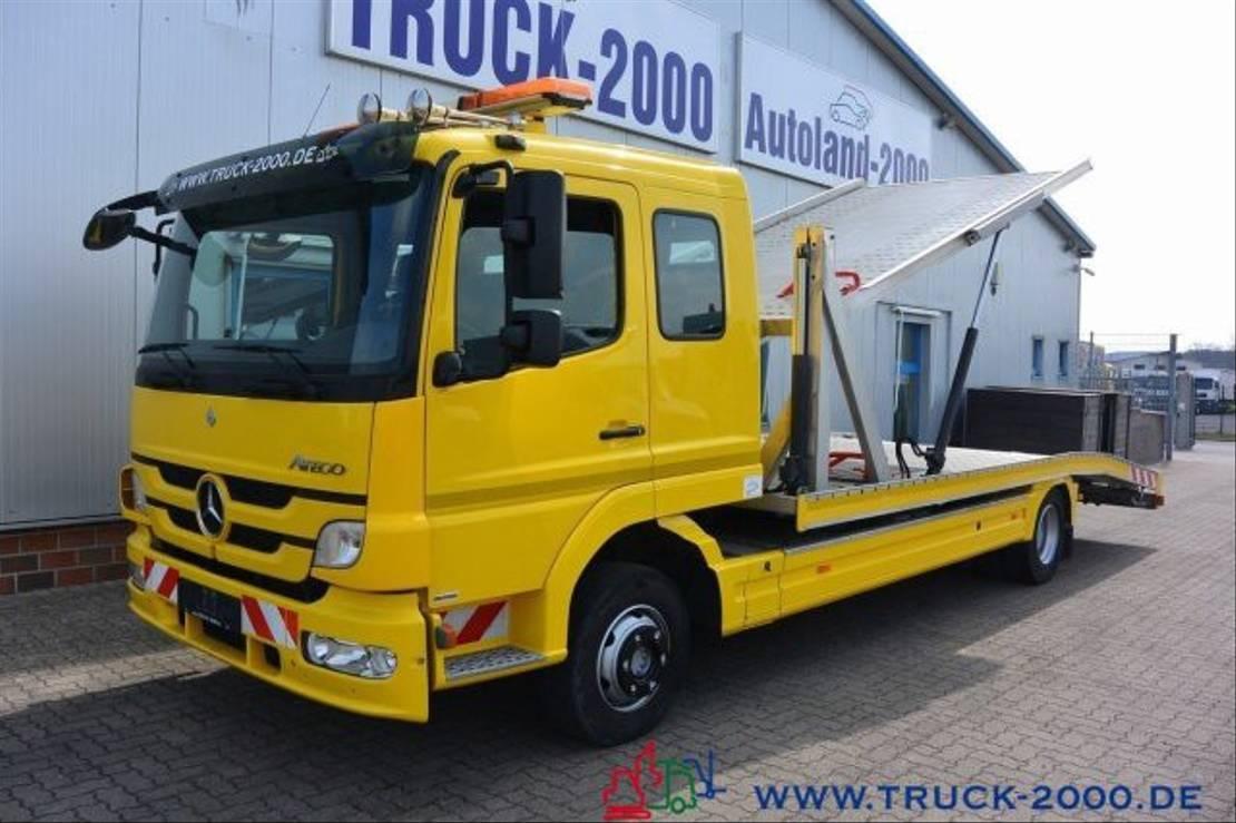 autotransporter vrachtwagen Mercedes-Benz Atego 1222 Hartmann Doppelstock 2 PKW 67.267 km 2013