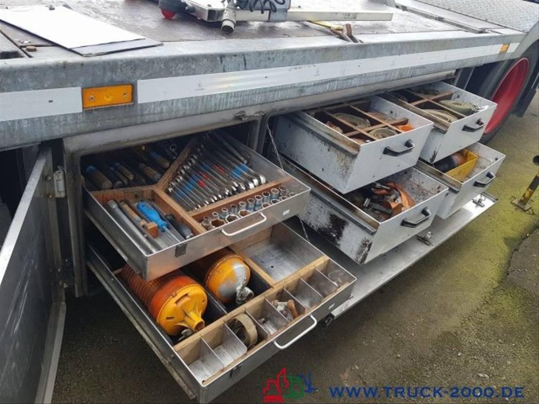 autotransporter vrachtwagen Scania G420 124 Boot / Shipping Transport Gespann 2006