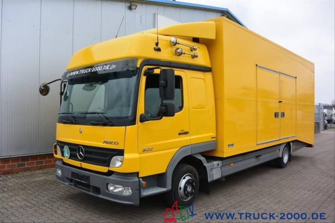 autotransporter vrachtwagen Mercedes-Benz Atego 822 geschlossen Extralange Rampen HU 11/21 2008