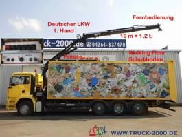 vuilkar camion MAN 32.390 Schubboden 57m³Wertstoff Müll Presse 2005