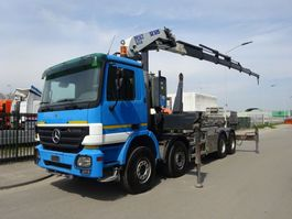 containersysteem vrachtwagen Mercedes-Benz ACTROS 4141 8X4 HAAKSYSTEEM / PESCI 505 / 6 / REMOTE CONTROL / 360 ROTEREND / KEURING / PERFECT CONDITION !! 2005