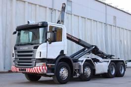 containersysteem vrachtwagen Scania P420 8x4 Manuell Retarder AHK E5 Leasing 2007
