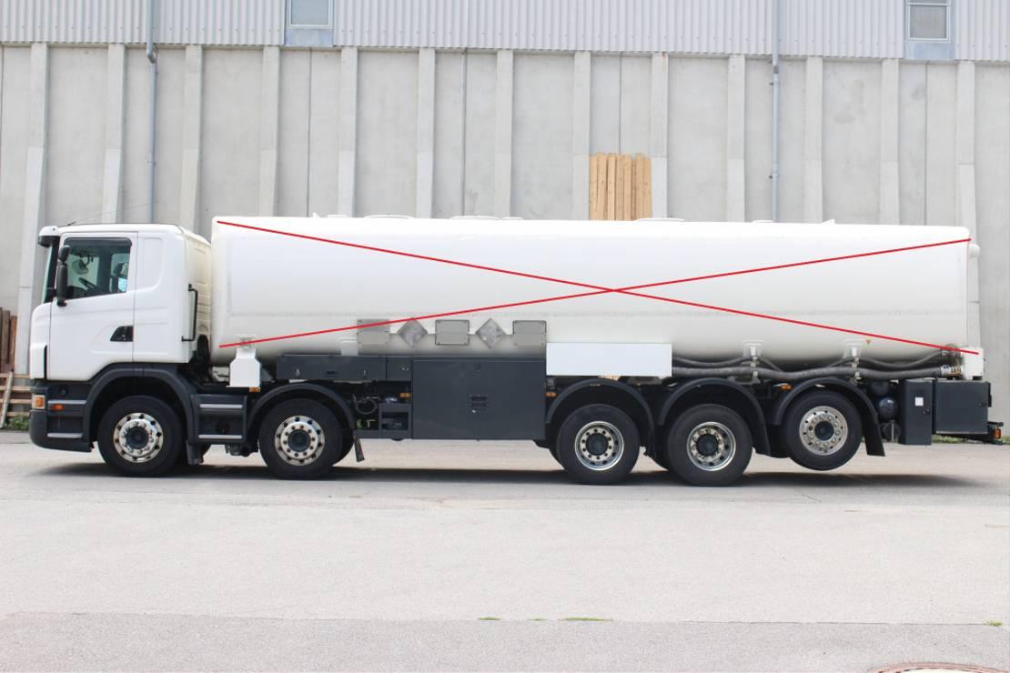 chassis cabine vrachtwagen Scania G480 E5 10x4 Retarder ADR 2010
