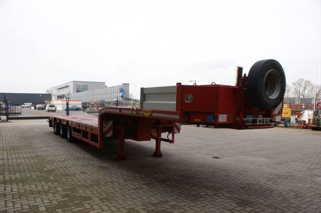 semi dieplader oplegger Broshuis 3 AOU-23-36 SL 6.4 M Extand. SLair axles! 2017