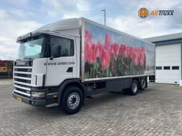 bakwagen vrachtwagen Scania R114 340G 6X2 Manual Box NL truck 2001