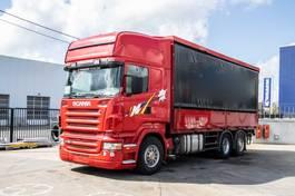 huifzeil vrachtwagen Scania R380 -6x2 + Intarder 2004