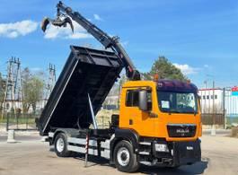 kipper vrachtwagen > 7.5 t MAN TGS 18 4x4 HIAB 111 BS-2 Hiduo Crane Kipper 2008
