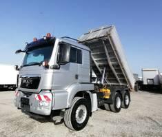 kipper vrachtwagen > 7.5 t MAN TGS 26 6x4 Dreiseitenkipper Dautel 2009