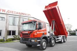 kipper vrachtwagen > 7.5 t Scania P400 , E5 , 8x4/4 , NEW MODEL , tipper 18m3 , manual , low cab 2014