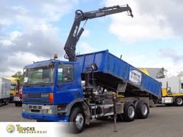 kipper vrachtwagen > 7.5 t DAF 85 ATI + Euro 2 + Hiab 140 Crane + kipper + 6X4 1997