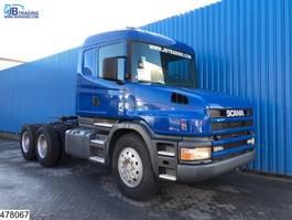standaard trekker Scania 124 420 6x4, Torpedo, Steel suspension, 13 Tons axle 2003