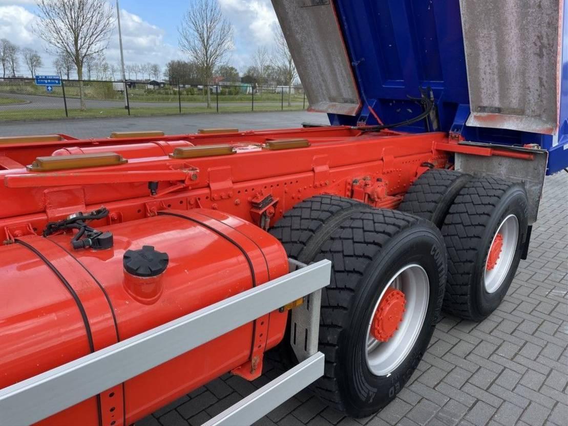 driezijdige kipper vrachtwagen DAF CF 510 CF510  8X4 KIPPER FULL STEEL EURO 6 MULDEN 2015