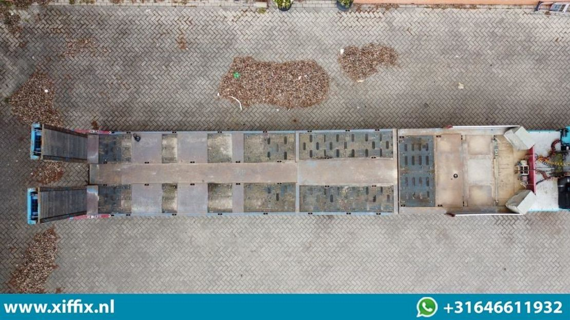 semi dieplader oplegger Faymonville 3-ass. Semi dieplader met dubbele hydr. kleppen en hydr. verstelbare vloer // 2x gestuurd 2009