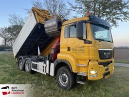 kipper vrachtwagen > 7.5 t MAN TGS 28 6X4-4 BL 2 zijdige kipper met Z-kraan 2009