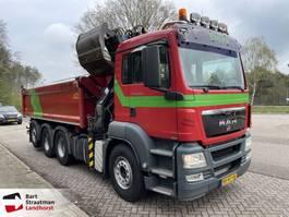 kipper vrachtwagen > 7.5 t MAN TGS 35.360 8x4 Kipper met HMF 1643 Z kraan EURO 5 EEV 2010
