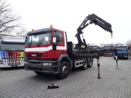 zware last trekker Iveco EuroTrakker 480 6X4 Kran HIAB 42 T/M 2007