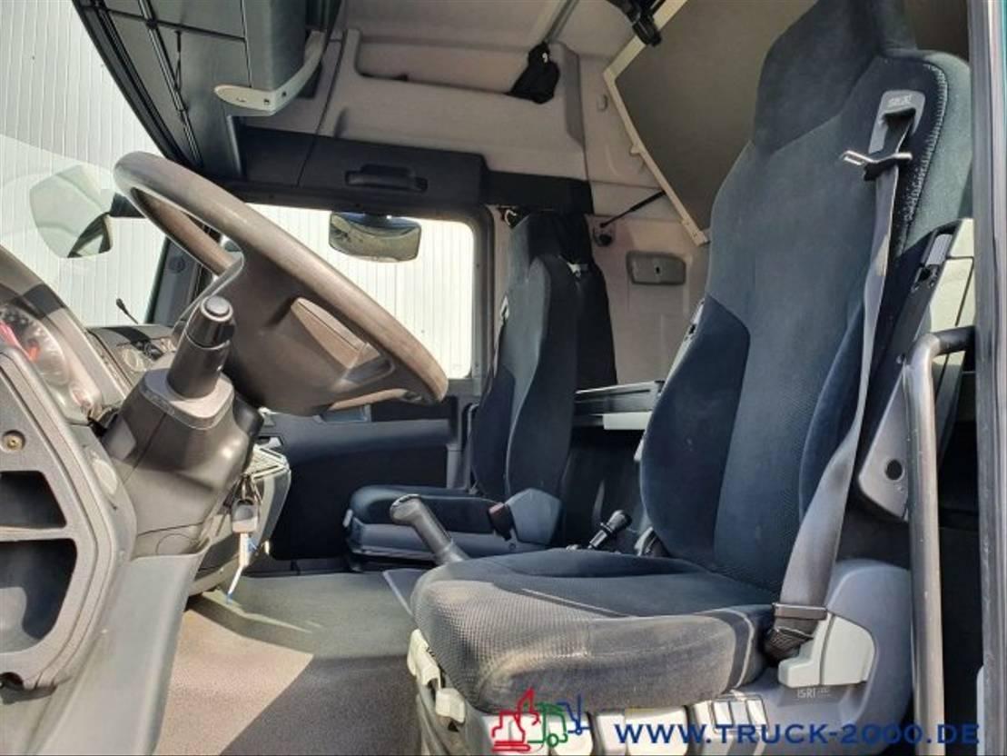 autotransporter vrachtwagen MAN 9.220 geschlossen + extralange Rampen Klima 2012