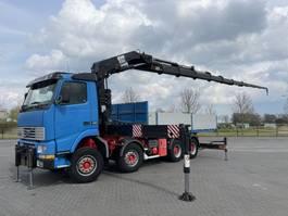 kraanwagen Volvo FH12.420 8X4 HIAB 550 24 M TRACTOR + PLATFORM
