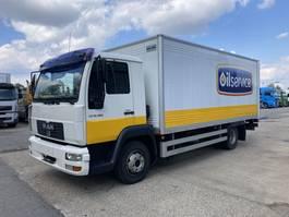 bakwagen vrachtwagen MAN LE 12.180 LLC Koffer 5m-LBW-PTO+PUMP Only 89.799 km 2009