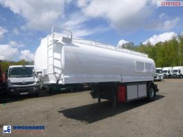 tankoplegger LAG Fuel tank alu 21 m3 / 4 comp + dual counter 2000
