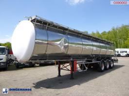 tankoplegger LAG Chemical tank inox 37.2 m3 / 4 comp 1990