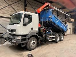 kipper vrachtwagen > 7.5 t Renault Kerax 460 DXI - KIPPER + KRAN PK14002 (3x) + GREIFER - EURO 5 - MANUAL ZF + RETARDER 2010