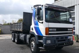 chassis cabine vrachtwagen DAF CF 85 PS EURO2 6X4 BIG AXLES FULL SPRING BUY AS CHASSIS / KIPPER DON'T WORK 1999