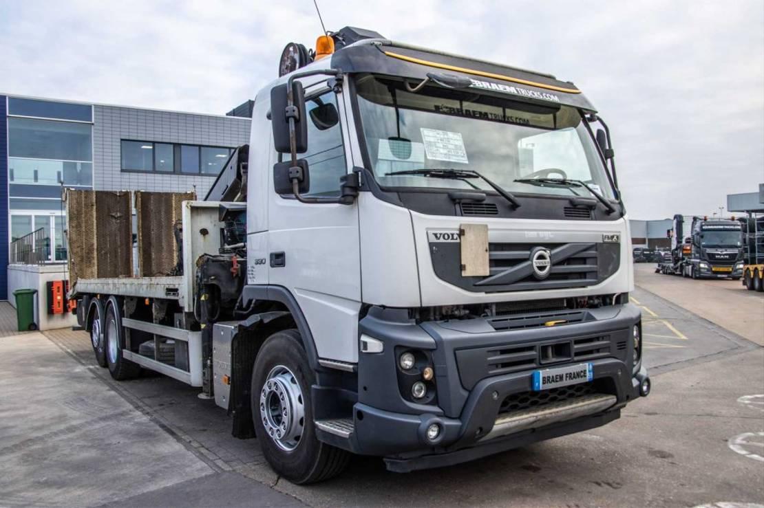 takelwagen-bergingswagen-vrachtwagen Volvo FMX 330 +EURO5+VEB+HIAB 21TM/2+PLATEAU PORTE ENGIN 2011