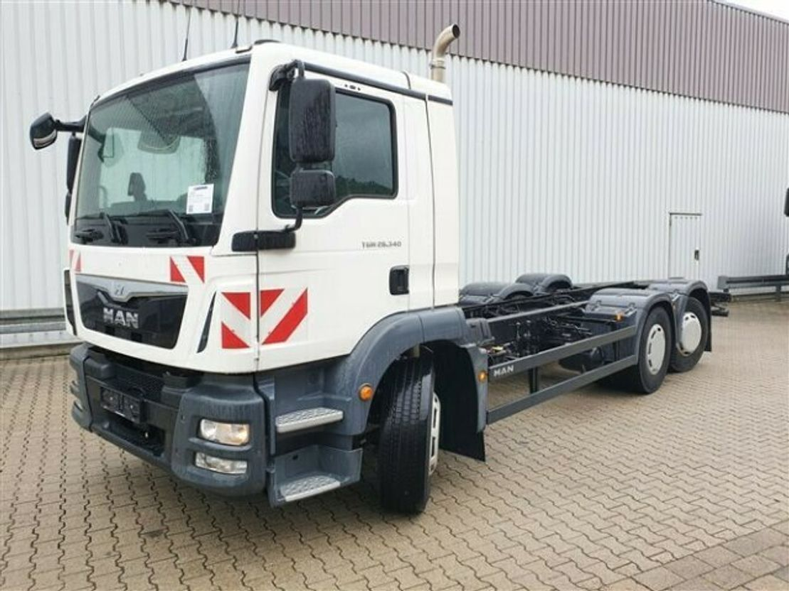 chassis cabine vrachtwagen MAN TGM 26 6x2-4 BL TGM 26.340 6x2-4 BL Navi/NSW