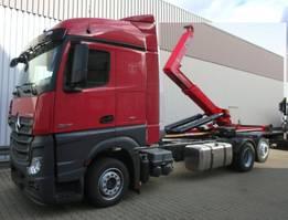 containersysteem vrachtwagen Mercedes-Benz Actros 2545 L 6x2 Actros 2545L 6x2 mit Retarder, Hyva 20.60 S 2x VORHANDEN!