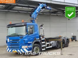containersysteem vrachtwagen Scania P360 8X2 Lift+Lenkachse Euro 5 HMF 2020 K3 2011