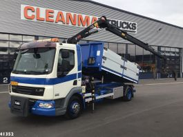 kipper vrachtwagen > 7.5 t DAF FA 45 LF 160 Hiab 5 ton/meter laadkraan 2009