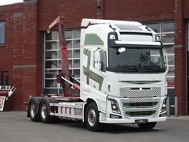 containersysteem vrachtwagen Volvo FH16.600 Globetrotter XL 6x4 - HIAB Hooklift - Euro5 - Full air - Leather - Retarder 2014