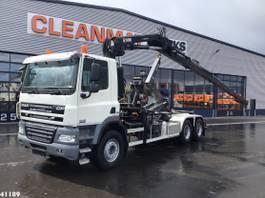 containersysteem vrachtwagen DAF CF 410 FAT 85 6x4 Hiab 16 ton/meter laadkraan 2013