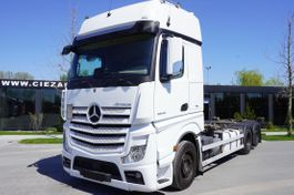 containersysteem vrachtwagen Mercedes-Benz Actros 2548 , E6 , 6X2 , chassis 7,2m , BDF , GIGASPACE , 2 beds 2018
