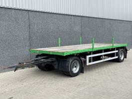 platte aanhanger vrachtwagen Netam-Fruehauf ANCR 20 110 / 2 assige open schamelaanhangwagen / 690 x 248 cm / 20.000 KG / NL 1997