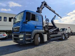 containersysteem vrachtwagen MAN TGS 26 Euro5 container + Kraan HIAB 2013