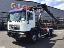 containersysteem vrachtwagen MAN FE 360 6x4 Hiab 10 ton/meter laadkraan 2001