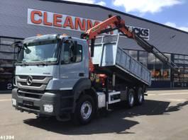 kipper vrachtwagen > 7.5 t Mercedes-Benz Axor 2636 6x4 Palfinger 16 ton/meter laadkraan 2011