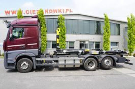 containersysteem vrachtwagen Mercedes-Benz Actros 2542 , E6 , 6X2 , NEW HOOK 22T HYVA , StreamSpace , ACC , 2015